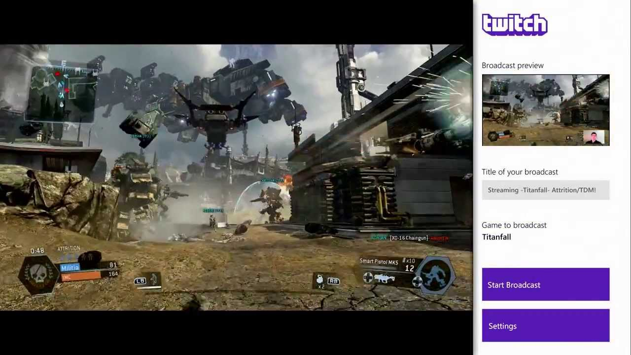 Xbox One to support HD streaming with Twitch, while PlayStation 4