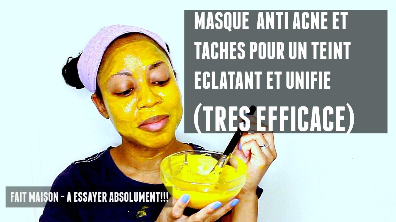 Masque anti acne et anti taches pour un teint eclatant et unifie tres efficace youtube - Masque maison anti bouton ...