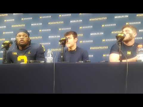Michigan vs Indiana: Rashan Gary, Shea Patterson talk Winovich injury/Ohio State