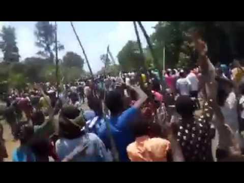 Massive public protest in Finoteselam- West Gojjam-Ethiopia -24 August 2016