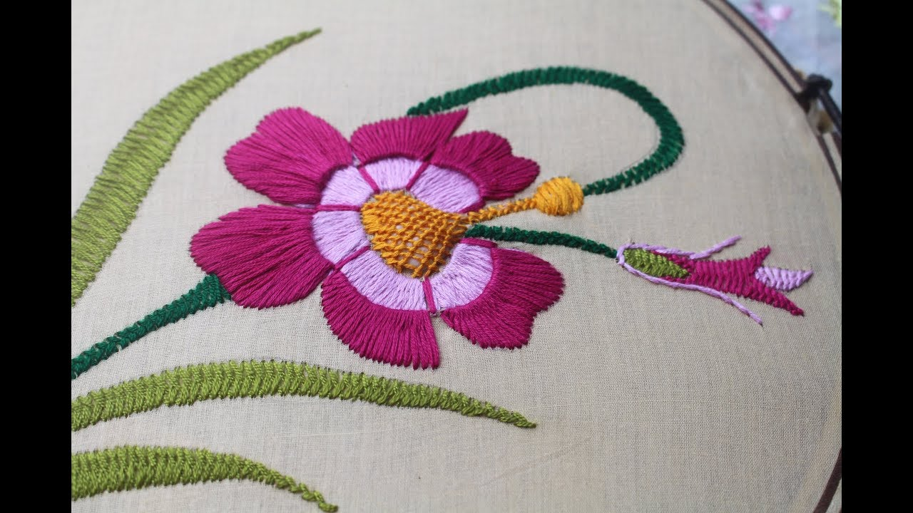 Hand embroidery designs beautiful flower design for cushion cover hand embroidery designs beautiful flower design for cushion cover izmirmasajfo