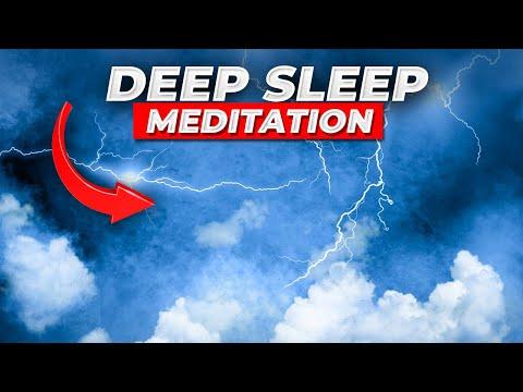 Fall Asleep Fast Guided Meditation, Sleep As A Thunderstorm And Rain Passes Hypnosis