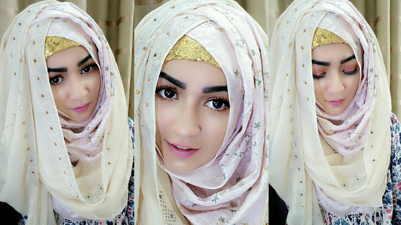 Crisscross Hijab Style With Covering Chest Pari Zaad