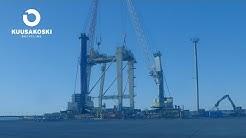 Kuusakoski - Crane dismantling / Nosturin purku
