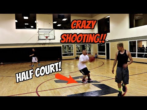 EPIC 1v1 HALF COURT SHOOTOUT w/ DAVID FUNG!! ON FIRE!!! 🔥🔥🔥