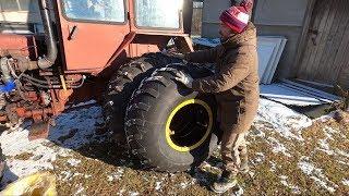 Ставим колеса-ободрыши от УРАЛа на Турбо-Трактор!