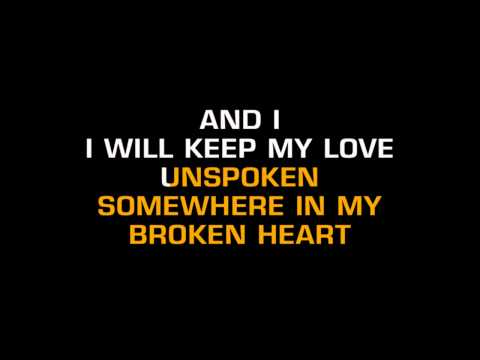 Billy Dean - Somewhere In My Broken Heart (Karaoke)