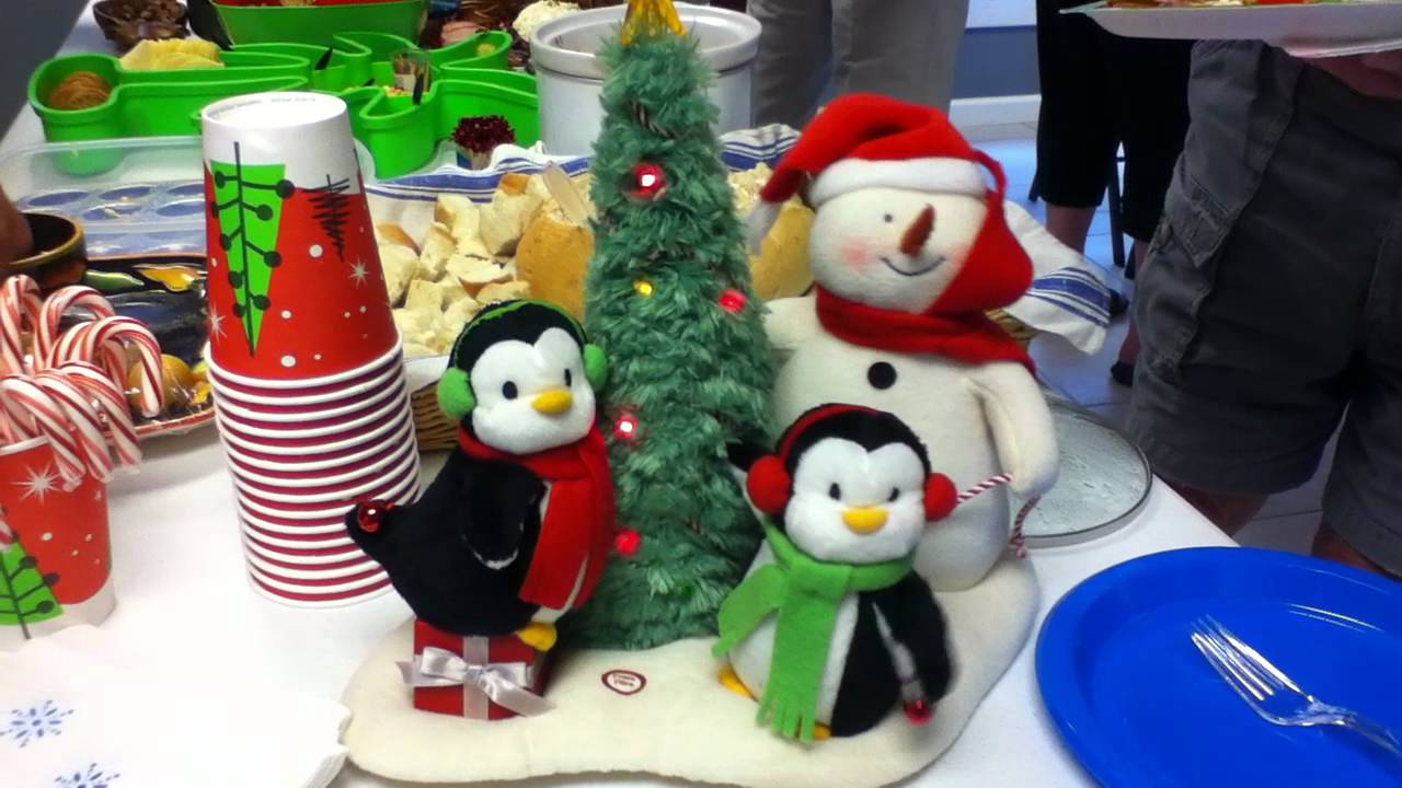 Singing Penguins, Snow Man And Christmas Tree Toy