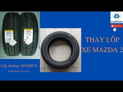 Thay lốp xe ô tô Mazda 2 | Lốp Dunlop Enasave EC300+ 185/60R16