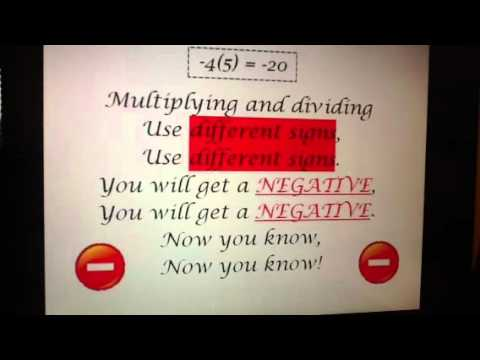 Multiplying and Dividing Integers Song