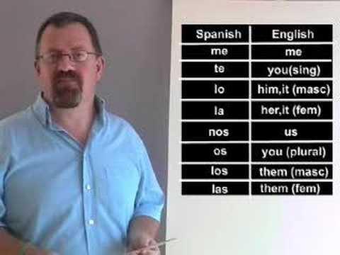 Spanish Language Lesson - direct object pronouns