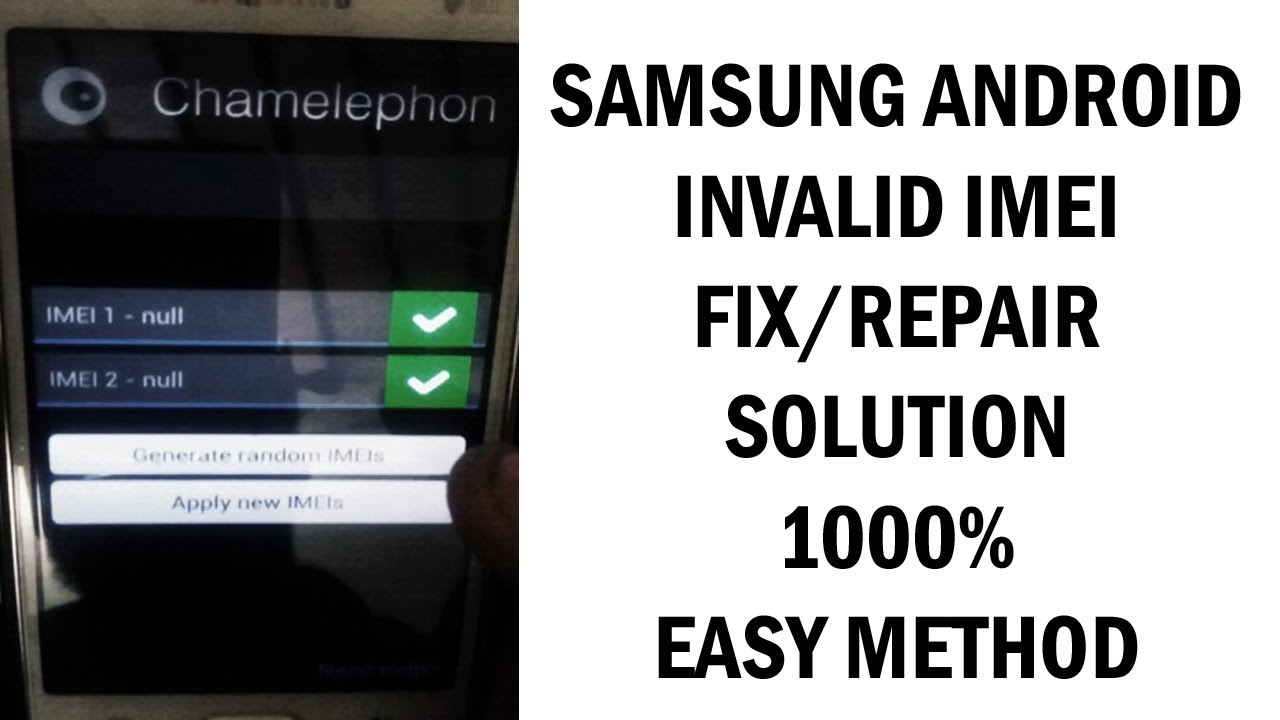 How to fix/Repair Invalid IMEI in Samsung All Android Mobile without Pc  10000% working