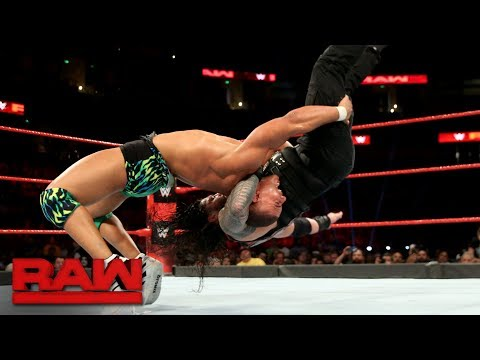 Roman Reigns vs. Jason Jordan: Raw, Sept. 11, 2017