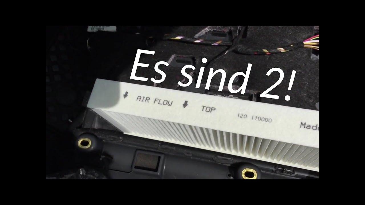 Handschuhfach Methode Pollenfilter Innenraumfilter Audi