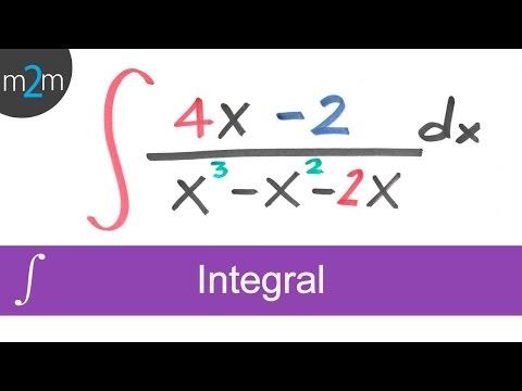 Integración por fracciones parciales │ejercicio 2