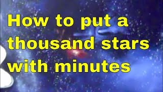 How to put a thousand stars on your ceiling within minutes