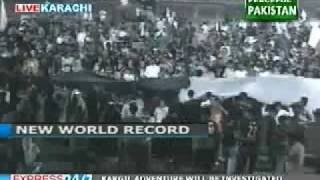 National Anthem World Record on Pakistan Independence Day