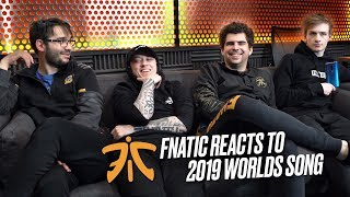 FNATIC Reacts to PHOENIX | Worlds 2019 Song