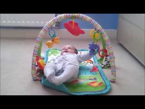 Fisher-Price Rainforest Friends 3-in-1 Musical Activity Play Gym! Funny Baby Playing!!