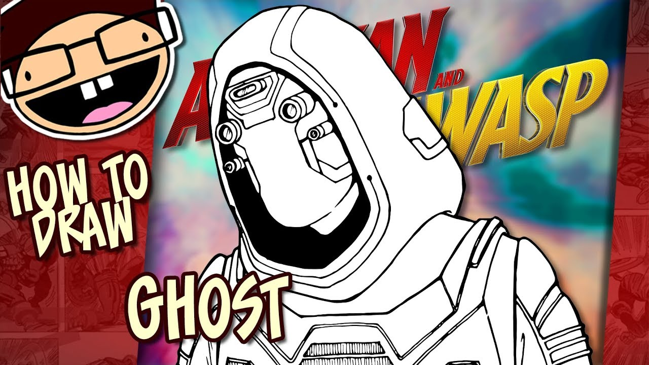 How To Draw Ghost Ant Man And The Wasp Narrated Easy