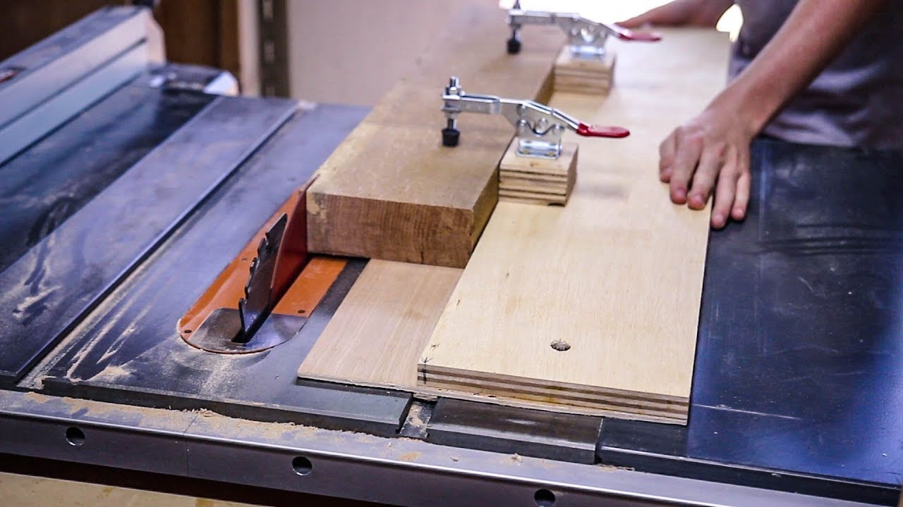 how to make a straight cut with table saw