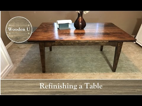 Refinishing a Table - Wooden U