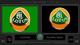 Lotus III: The Ultimate Challenge (Pc vs Sega Genesis) Side by Side Comparison (Ms-Dos vs)