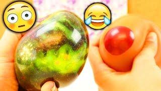 NEUE verrückte Antistressball CHALLENGE | Evas & Kathis Experiment mit super viel Material | FUN