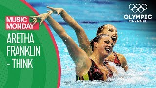 """USA's Artistic Swimming performance to Aretha Franklin's """"Think""""   Music Monday"""