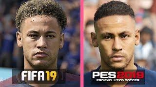 FIFA 19 vs PES 2019 | Paris Saint Germain Players Faces Comparison