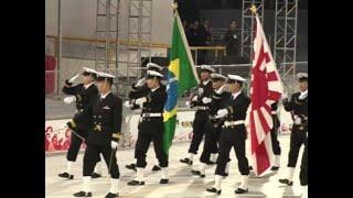 """練習艦隊、皇太子殿下への「頭右!」@サンパウロ/ """"Eyes right"""" to the Prince! Training Squadron 2008@Sao Paulo, Brazil"""