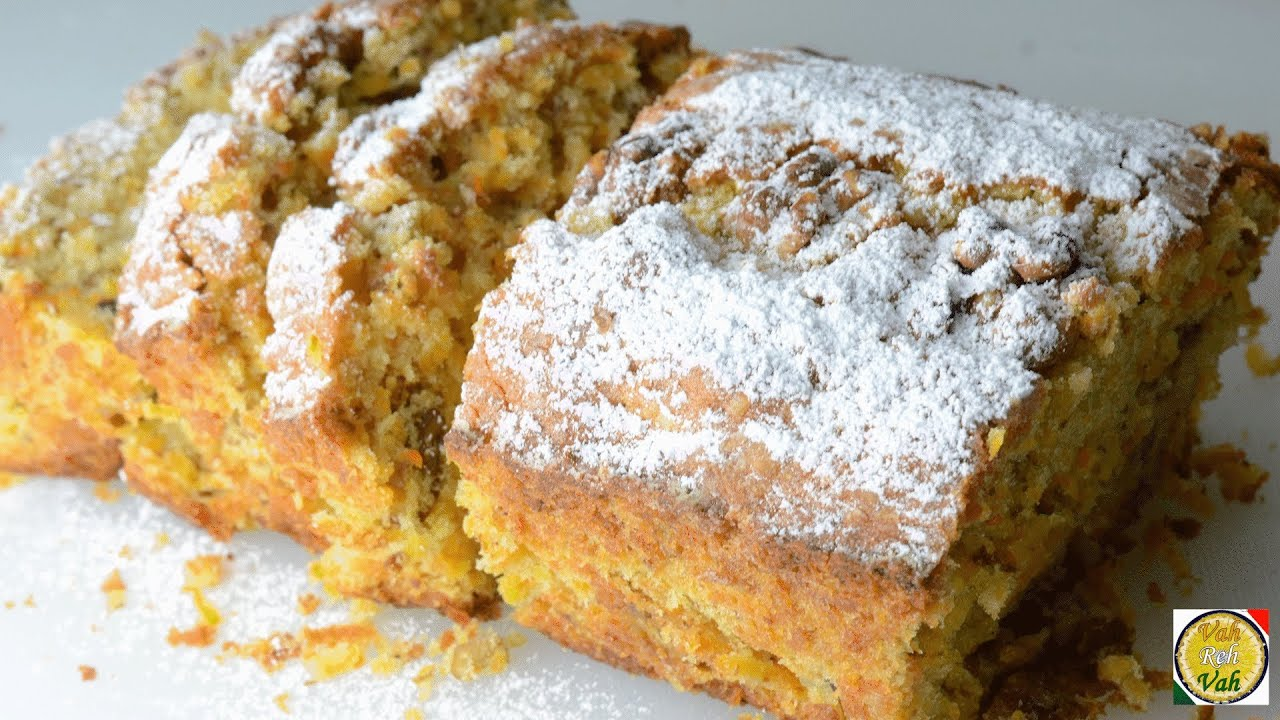 Carrot Walnut Cake By Vahchef