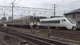 JR西日本681系&683系 しらさぎ送り込み回送 木曽川駅運転停車
