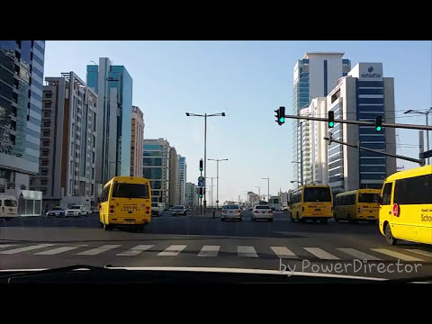 Tourist club area (TCA) Hamdan Abu dhabi to Mussafa using Autoboy android dashcam in Galaxy Note 3