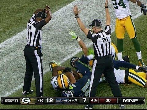 Packers-Seahawks Russell Wilson Game Winning Hail Mary, Monday Night Football