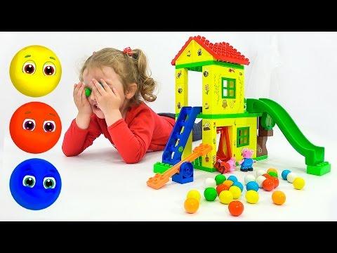 Learn Colors Учим Цвета Чудесный Домик Свинка Пеппа Развивающие мультики для детей Peppa Pig Toys