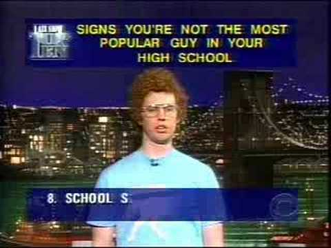 Napoleon Dynamite top 10 on Letterman