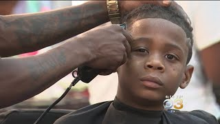 Kids Get Free Back-To-School Haircuts At Annual 'Fades For Grades' Event