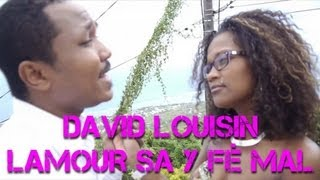 David Louisin - Emanuelle Ivara - Lamour sa y fé mal - Clip Officiel - 974Muzik