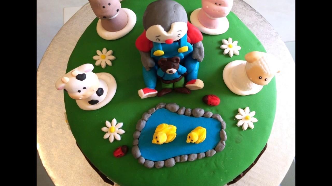 Très Gâteau Tchoupi en pâte à sucre - YouTube MK33