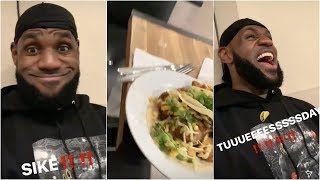 LeBron thought about doing a silent Taco Tuesday, but just couldn't help himself