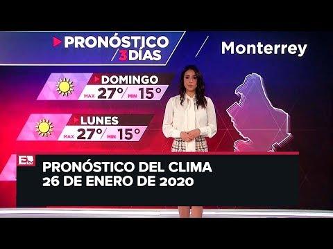 clima para hoy 26 de enero de 2020