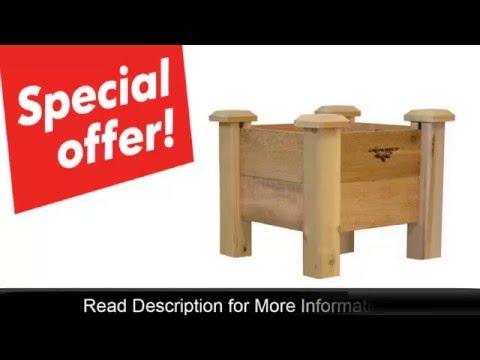 Gronomics Cedar Rustic Ergonomic Raised Planter Box Review Youtube