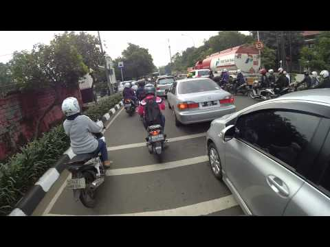 Riding with Xiaomi Yi action camera in Jakarta, Indonesia