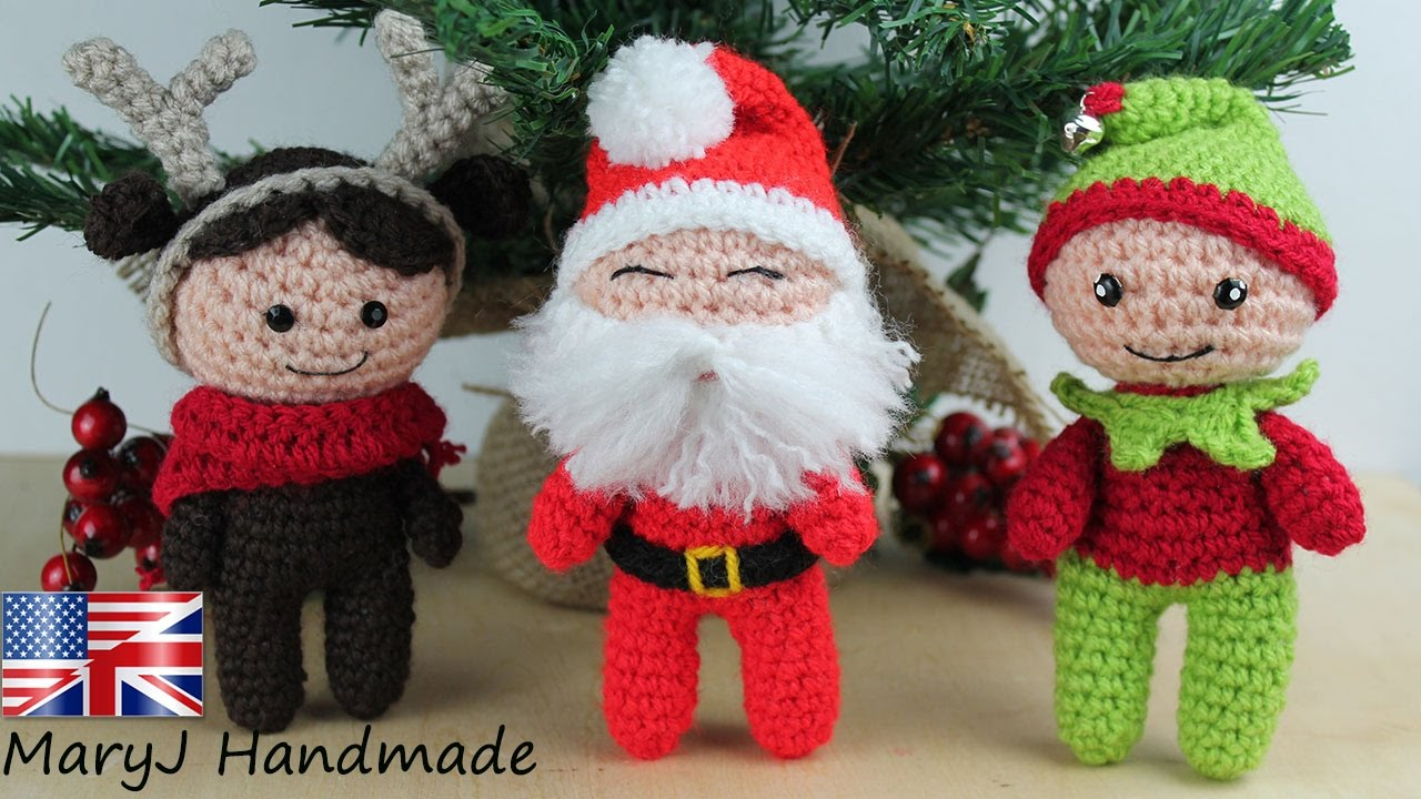 Santa claus 12' amigurumi by Jane Pmm doll room with Free pattern ... | 720x1280