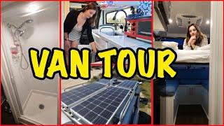 Van Tour | Unique Self-Sustainable Van with Bed Lift System