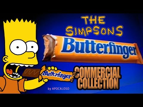The Simpsons - ALL Butterfinger Commercial Collection (1988 - 2001)