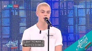 """Biondo - Inedito """"Quattro Mura"""" E """"Stanza a 4 Stelle""""    #Amici17Casting"""