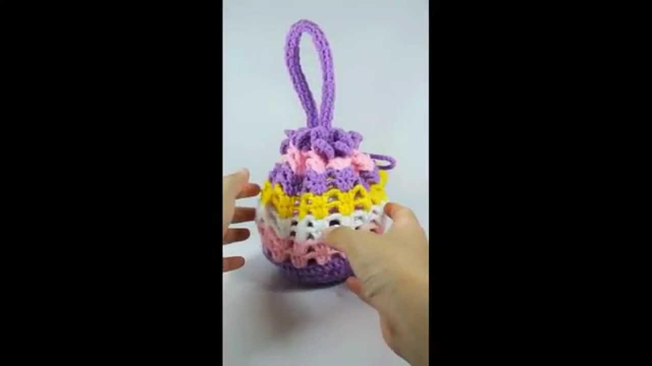 CROCHET KNITTED Handmade Bonding Bag Travel Pouch