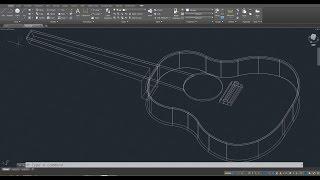 Beginner Tutorial 1 (AutoCAD 2017) - Designing a Guitar